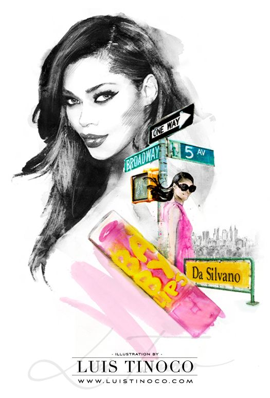 "MAYBELLINE NYC GUIDE 2014 ""BCKSTG"" Jessica White Portrait ILLUSTRATION by LUIS TINOCO http://www.luistinoco.com/"