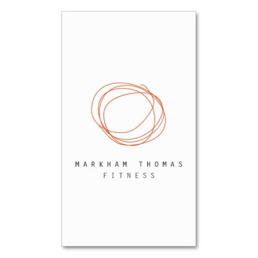 265 best business cards for networking personal use images on minimal and modern designer scribble orange business card accmission Gallery