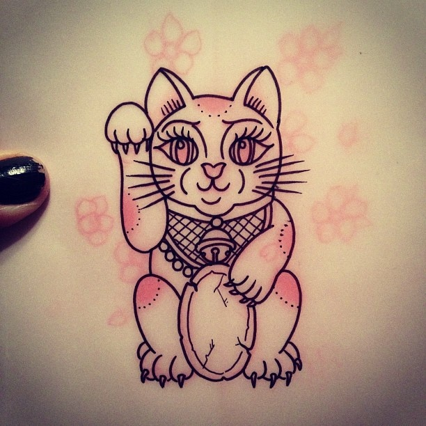 263 best lucky cats maneki neko tattoos images on pinterest maneki neko tattoo ideas and cat. Black Bedroom Furniture Sets. Home Design Ideas