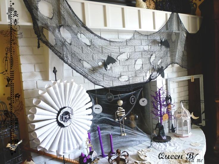 pour halloween cheminées manteau halloween amusant halloween ...