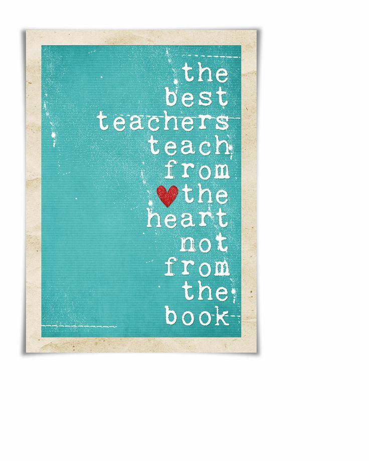Teacher Gift - The Best Teachers Original print in distressed Turquoise/Teal/Aqua - 8x10 Holiday Christmas Gift Under 25. $15.00, via Etsy.