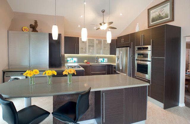 Mesmerizing Wenge Contemporary Kitchen Design Contemporary Kitchen San Diego