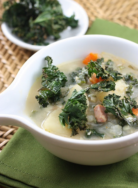 Smoky potato soup with kale | FOOOD :P | Pinterest