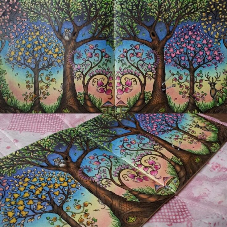 84 Enchanted Forest Coloring Book Tree