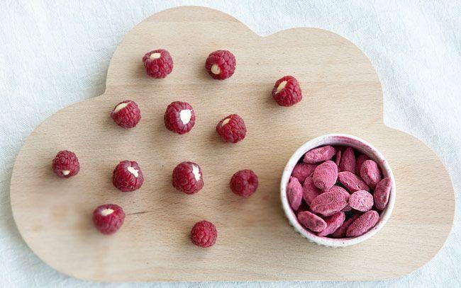 Hindbær chokolade mandler ➙ Opskrift fra Valdemarsro.dk