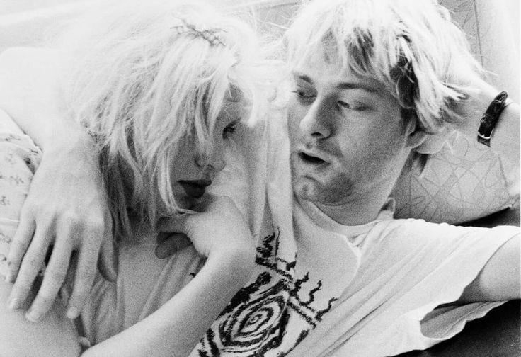 Kurt Cobain & Courtney Love by Hansen Guzman, 1992