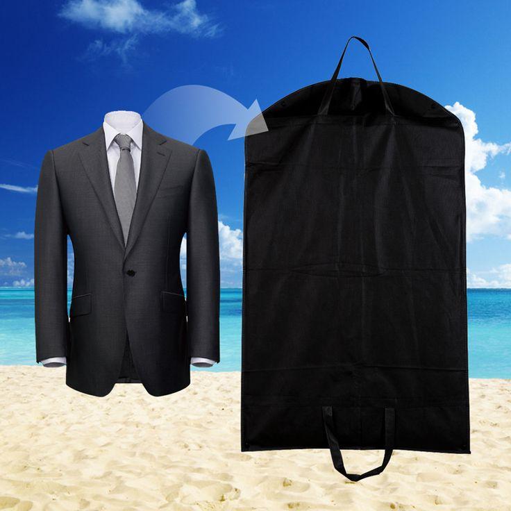 1ピースブラック防塵ハンガーコート服ガーメントスーツカバー収納袋、衣類収納、almacenamiento、ケース用服e5m1