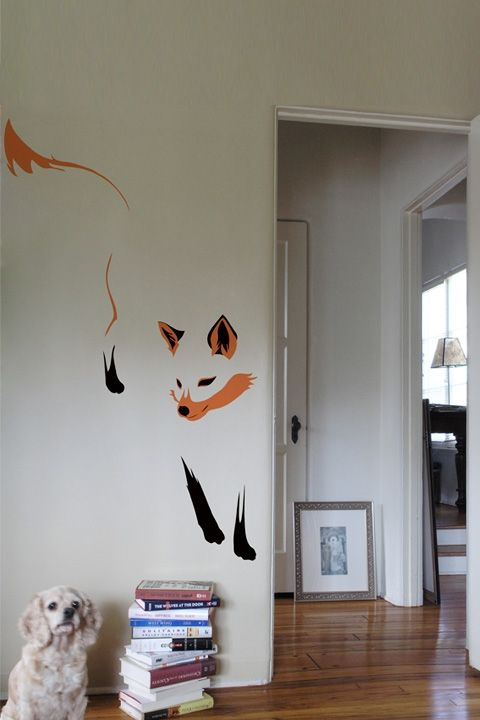 i wish i could get away with having this awesome huge fox on my wall.                                                                                                                                                                                 More