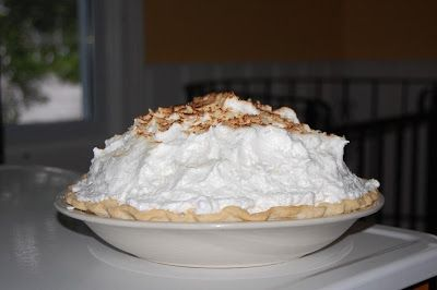 Dan decided he wanted to make coconut cream pie. But he did not whip cream on the top or normal meringue. The pie was absolutely amazing. ...