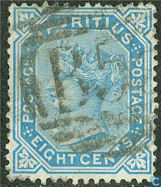 Postzegels - Mauritius - Koningin Victoria