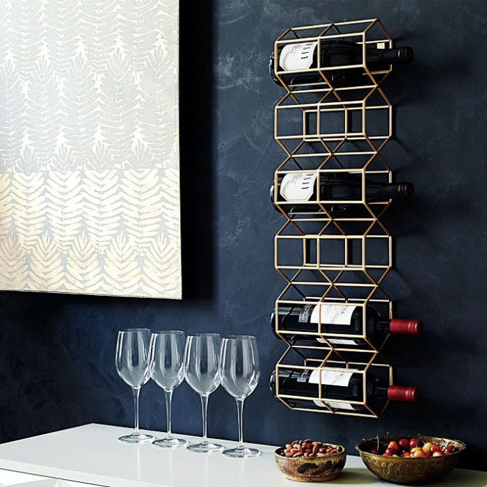 Art-deco inspired wine stand