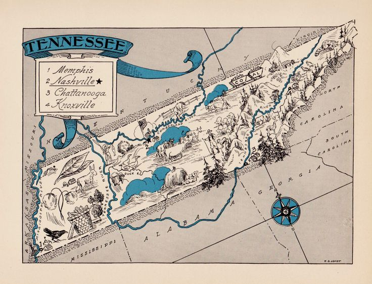 Best Tennessee Map Ideas On Pinterest Pigeon Forge - Map of tennessee