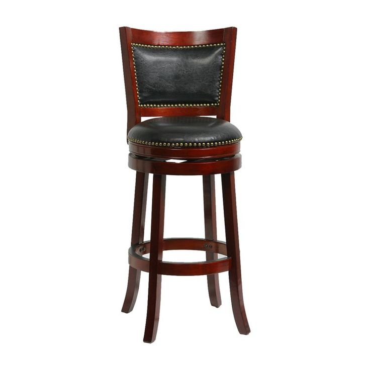 Have to have it. Boraam Bristol Leather 24 in. Swivel Counter Stool - $129.58 @hayneedle