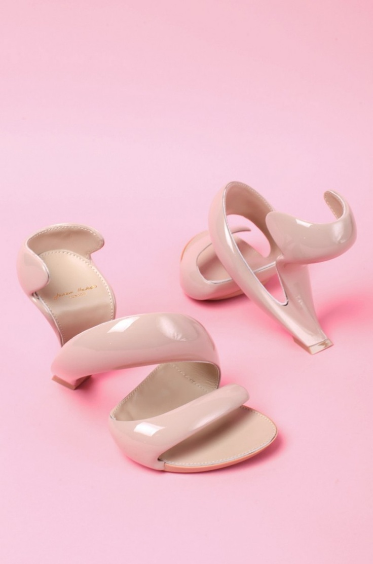 Julian Hakes Mojito Shoe in Nude & Nude. Amazing!