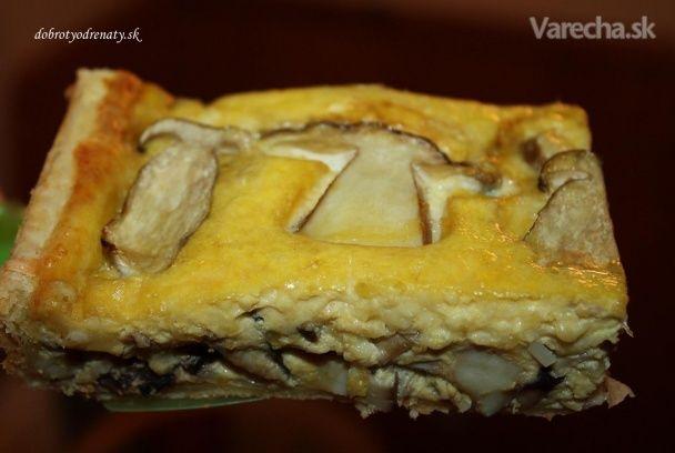 Hríbový koláč (fotorecept)