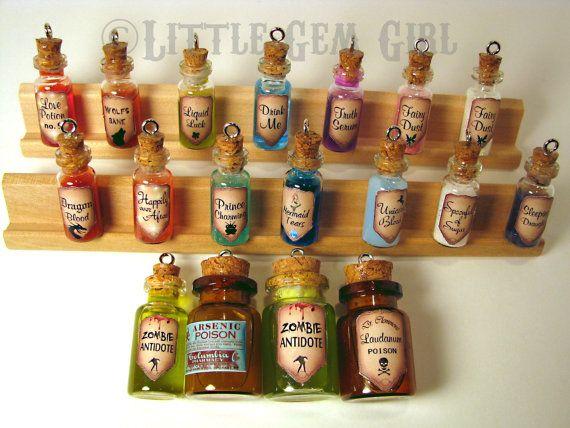 Zombie gran antídoto vidrio botella corcho collar por LittleGemGirl