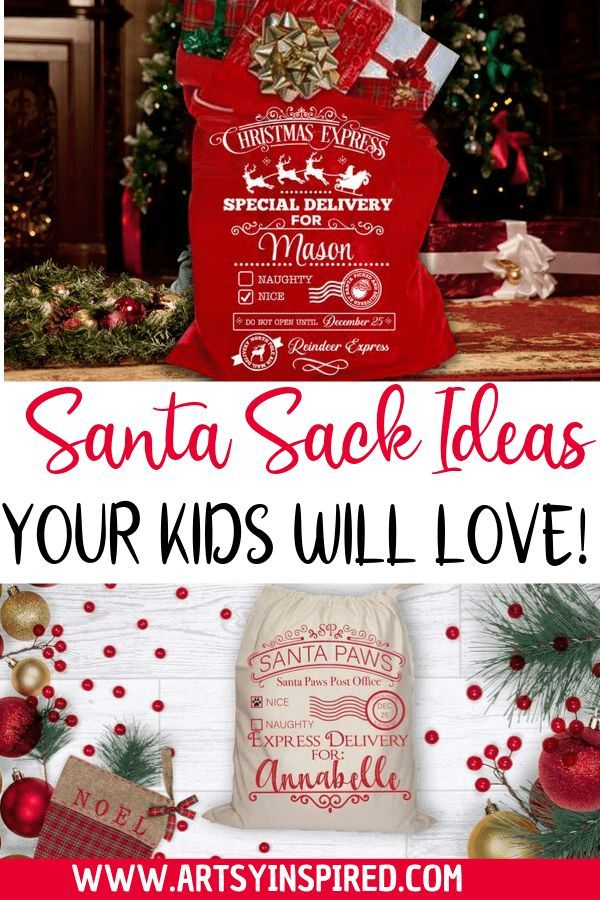 The best DIY Santa sack ideas. Your kids will love…