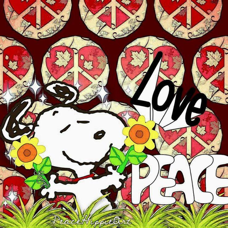 Snoopy ❤ Love🌻💚🌻💜Peace🌻💙🌻💖