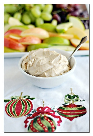 brown sugar fruit dip 2 8oz packages cream cheese, softened  3/4 cup brown sugar  2 1/2 Tablespoons vanilla