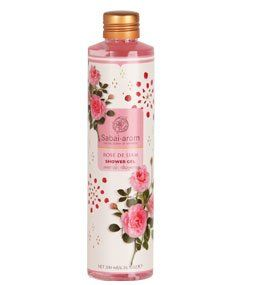 Rose De Siam Shower Gel Product of Thailand by Sabai Arom. $75.00. Size 200 ml. Rose De Siam Shower Gel Product of Thailand. The scent of rose fragrance Gel. Rose essential oil blend of rose species Chulalongkorn Vintage NYC fascinate. Value added and gentle for all skin extracts. Aloe vera, green tea and ginger moisturizing your skin every time you shower.   Use water to clean skin morning - cold. Rinse with clean water. Moment of relaxation. A daily basis.