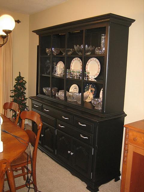 black china cabinet