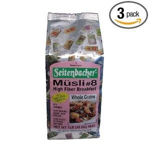 Seitenbacher Müsli #8 High Fiber Breakfast.  http://affordablegrocery.com