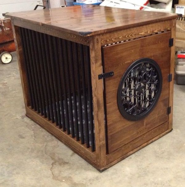 On Pinterest Extra Large Dog Crate Dog Crates And Dog Crate Table