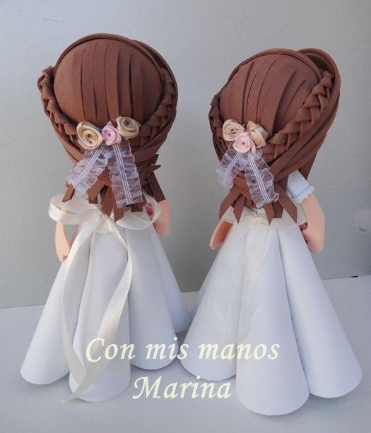 Fofuchas comunión / Con mis manos-Marina - Artesanio