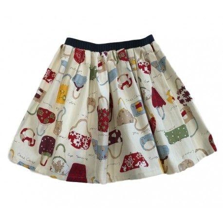 """GONNA A RUOTA BIMBA OTTO BE """"BORSE"""" Gonna per bambina di Otto Be, un modello a ruota con una deliziosa stampa fantasia con tante piccole borse colorate ed un elastico in vita blu navy, una gonna di Otto Be adattabile con qualsiasi outfit. #ottobe #abbigliamentoottobe #gonne #minigonne #skirt #teenager #bimba #bambina #girl #kids #junior #teen #clothing #abbigliamento #shopping #fashion #moda"""