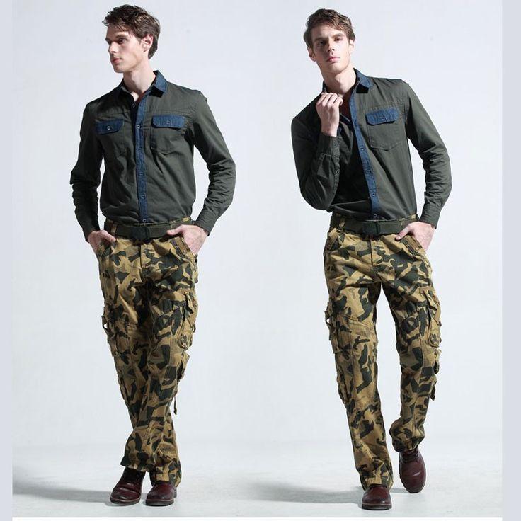 Calça Cargo Cáqui Camuflagem Militar Exército
