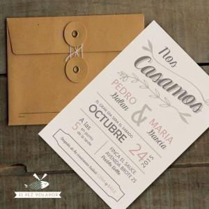 invitaciones boda caseras originales - Buscar con Google