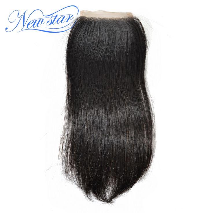 new star free style peruvian virgin straight hair top lace closure natural off black 8-18inch(30-55g/pcs) & DHL free shipping