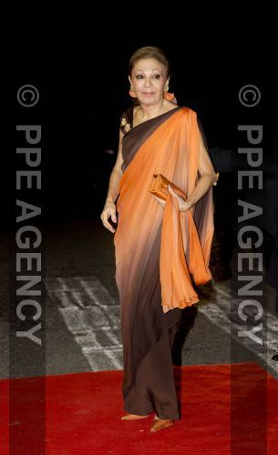 08-10-2016 Galadiner Empress Farah Pahlavi of Iran  oranje/orange  Arrival for dinner at the Royal Palace in honor to wedding of HRH Crown Prince Leka II of The Abanians and Miss Elia Zaharia, October 8, 2016, Tirana Albany,© PPE/Nieboer Afmetingen: 2592 x 4252 (pixels) Bestandsgrootte: 799.2 KB © PPE Agency