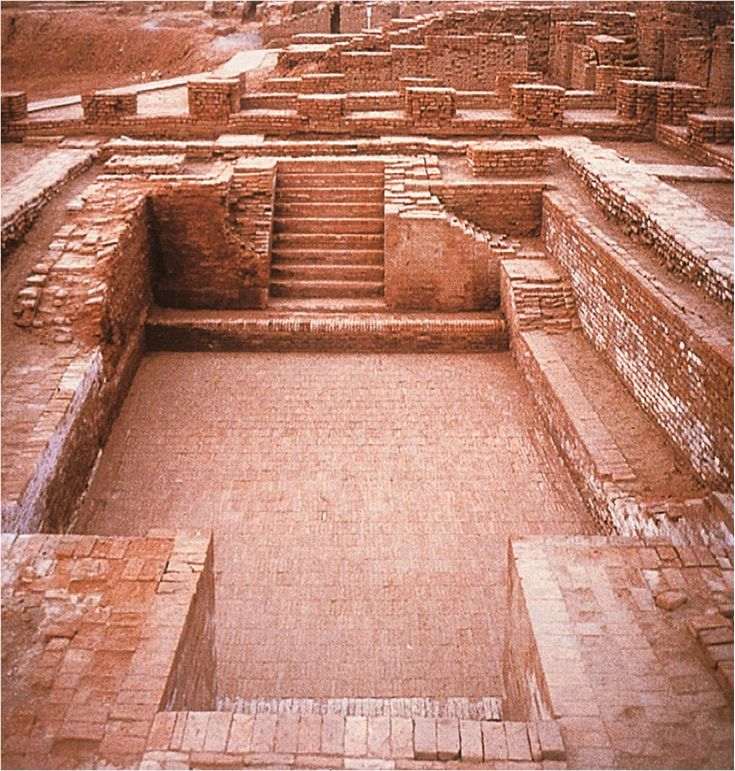 Indus Valley Civilization: The Great Bath of Mohenjo Daro.