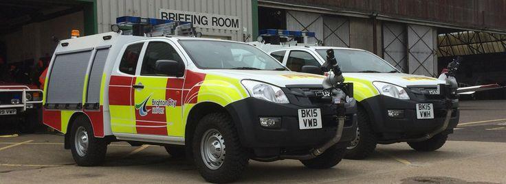 New fire trucks at Brighton City Airport