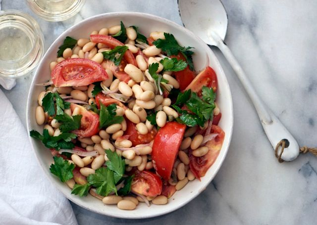 Tomato and White Bean Salad with Capers | Recipe