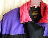 Vintage Eddie BAUER GOOSE DOWN Jacket, Ladies Size Small / Petite, Girls, School Winte Ski, Snowboard, Sled, Campus, Black, Hot Pink, Purple