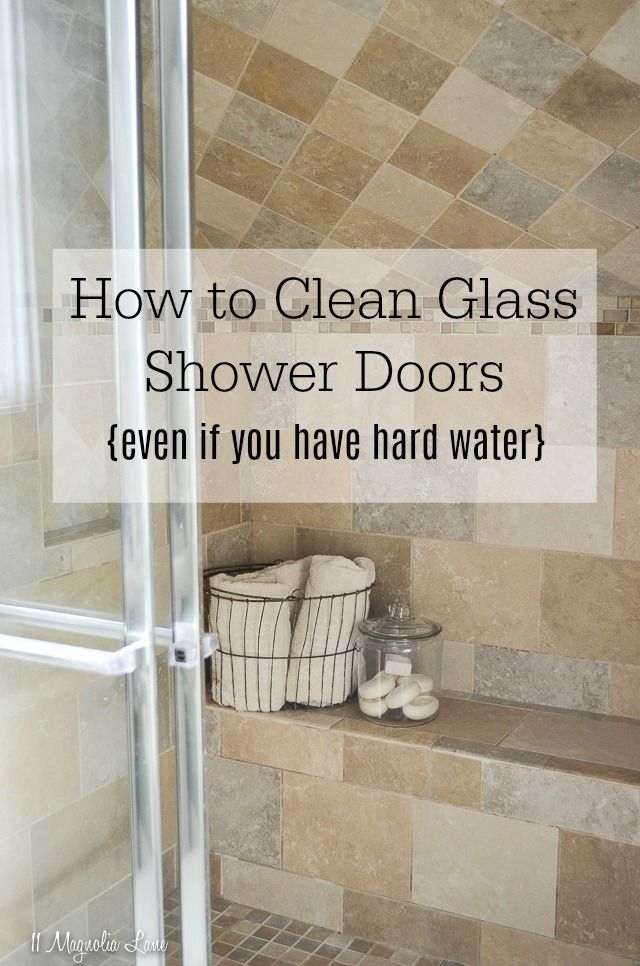 How To Clean Glass Shower Doors Even If You Have Hard Water Clean Shower Doors Glass Shower Doors Cleaning Shower Glass