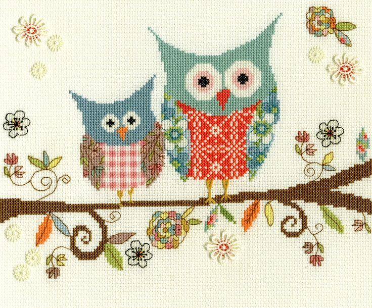 'Love woo' #crossstitch #sewing #owls #bothythreads