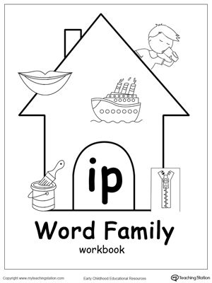 Our IP Word Family Workbook includes a variety of printable worksheets to help your child boost their reading and writing skills. The workbook includes printable worksheets and flashcards of common words ending with IP.