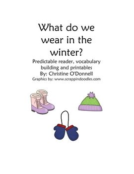 Winter Wear Predictable Reader and Sight Word Pack