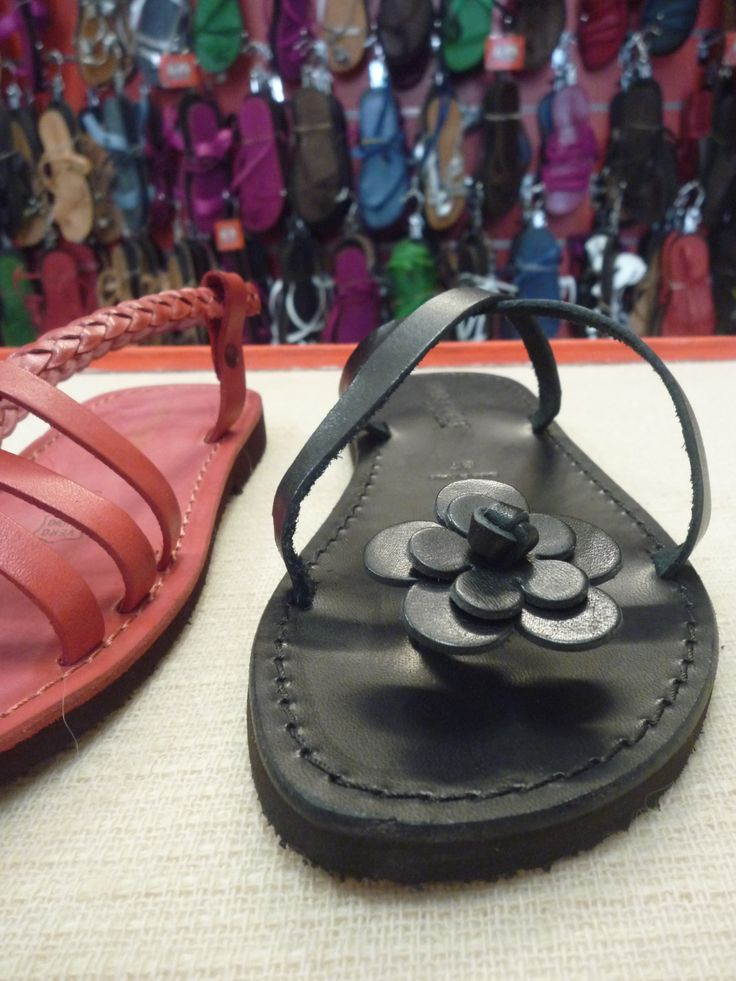 Handmade coloured sandals - 100% Made in Italy