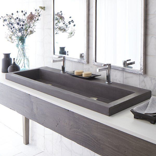Trough Stone 48″ Trough Bathroom Sink
