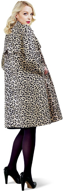 Lauren Laverne and her charity shopped Leopard Print coat                                                                                                                                                                                 More