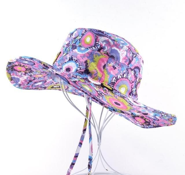 Wide Brim Breathable Beach Hat For Men Bob Women Outdoors Casual Fishing Hiking Sun-proof Caps Foldable Camo Boonie Bucket Hats