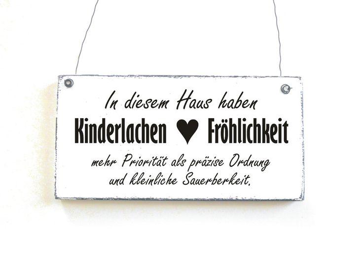 KINDERLACHEN & FRÖHLICHKEIT Türschild Holzschild von DöRPKIND auf www.doerpkind.de