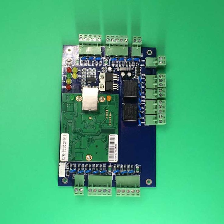 Free Shipping Ethernet TCP IP Network Access Control Circuit Board Panel Control for two Doors