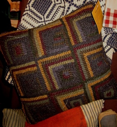Log cabin pillow.