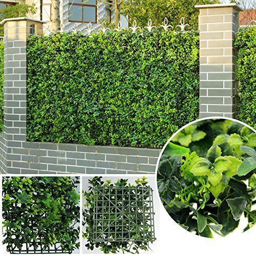 Artificial Grass Privacy Fence Panels Faux Ivy Wall Cover