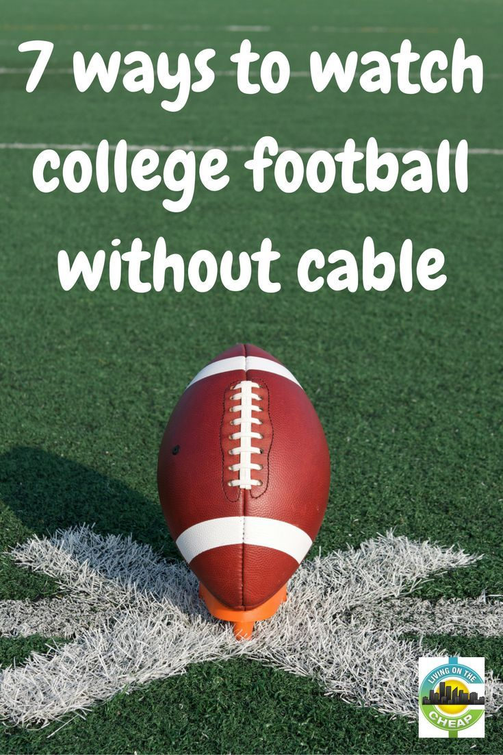 No cable, no problem. College sports fans will love this! via @livingcheap